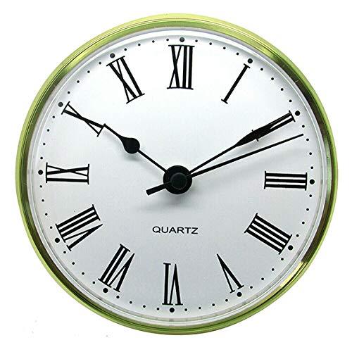 Cuarzo Dorado Bisel Reloj Insertable Romano Números Clip de Metal para Shontek - DM-6001 - Oro, 85mm Insert - 56mm To 62mm Hole