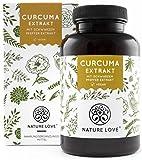 NATURE LOVE® Curcuma Extrakt Kapseln. 4500mg Kurkuma