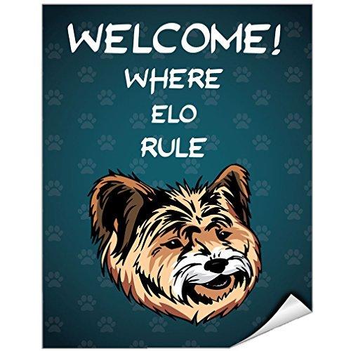 Sticker Decal Welcome Where Elo Dog Rule Autocollant en Vinyle Motif règles de Chien 22,9 x 30,5 cm