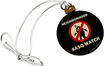 GRAPHICS & MORE Neighborhood Sasq-Watch Sasquatch Watch Funny Humor Mini Small Tiny Wood Christmas Tree Holiday Ornament