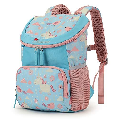 MOUNTAINTOP Kinderrucksack Schultasche Kinder Tagesrucksack Kleiner Freizeitrucksack mit Brustgurt für Kita Kindergarten Vorschul Wanderungen, 10L, 23 x 12x 34cm