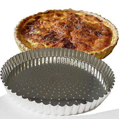 GOBEL Moule à tarte 28 cm fond mobile perforé 126441