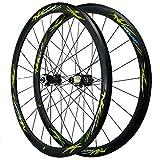 SJHFG Rueda para Bicicletas de Carretera 700C,Pared Doble Liberación Rápida Freno de Disco Freno V/Freno C Ruedas Todoterreno de 29 Pulgadas (Color : Green)