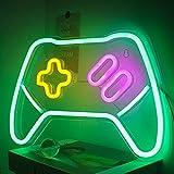 Letreros de Neón en Forma de Juego Luces de Neón Verdes Letreros de Neón LED para Decoración de Juegos 14''x10'' Gamepad Neon para Dormitorio Zona de Juegos para Niños Decoración de Fiesta