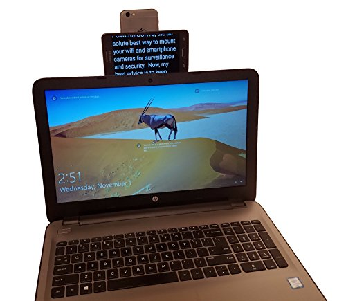 Smartphone/Action Camera Teleprompter Kit for Youtubers and Pro Video Presentations: Handheld, Laptop or Book Stack Mountable with 2-in-1 USB Cable (Phone/Camera not Included)