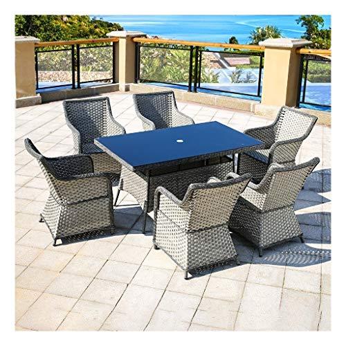 DYYD Juegos de Muebles de jardín Patio Muebles de jardín Mesa y sillas de Patio Interior al Aire Libre Conservatorio de jardín al Aire Libre Junto a la Piscina