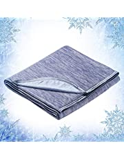 Elegear Twin Size Cooling Blanket for Summer Sleeping, Japanese Q-Max 0.4 Arc-Chill Cooling Fiber Absorb Body Heat 100% Cotton Backing Blanket for Bed & Travel, Hypo-allergenic, Machine Washable