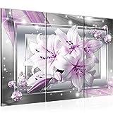 Runa Art Blumen Lilien Bild Wandbilder Wohnzimmer XXL Grau