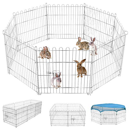 Pet Playpen for Small Animals Pet Fence for Rabbits Guinea...
