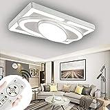 78W Veicolo spaziale Regolabile luminosità regolabili Plafoniera a LED Con telecomando Colore chiaro e luminosità regolabili Illuminazione soffitto (Bianca-78W Regolabile)