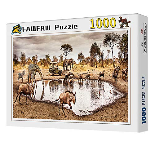 1000 Piece Wooden Jigsaw Puzzles Safari De Sabana Africana, Elefante, Cebra Rompecabezas Juguetes Regalos para Niños