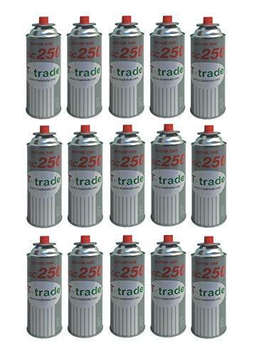 ALTIGASI Lot de 15 Cartouches de gaz GPL 250 g KCG250 Fer à souder idéal pour cheminée ou cuisinière Bistro Compatible Campingaz CP250 Brunner