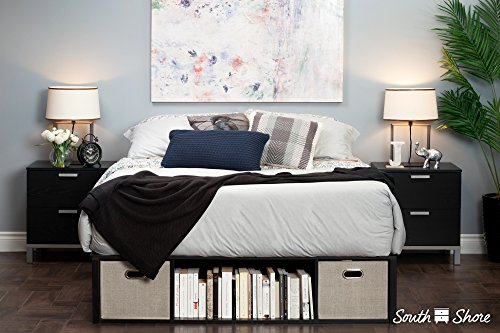 a platform bed with storage is a space saving bed for small bedrooms