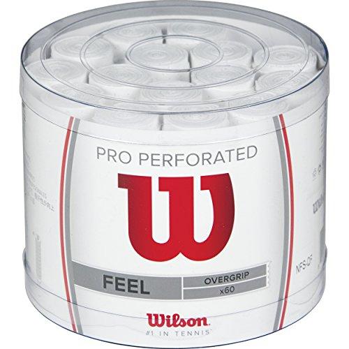 Wilson Pro Overgrip Perforated Empuñadura, 60 unidades, unisex, blanco