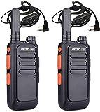 Retevis RT669 Mini Walkie Talkie, PMR446 Radio Profesional con Auriculares, Radio USB Recargable de 2 Vías con VOX, Tot, Squelch para Exteriores, Pesca, Cámping (Negro, 2 Piezas)