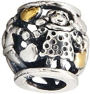 Family Forever Charm Bead - .925 Sterling Silver - Fits Pandora Charm Bracelet