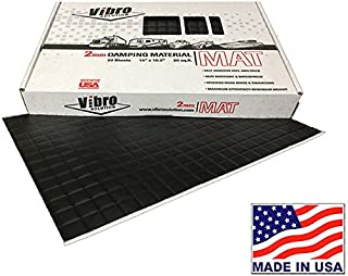 Vibro Black 80 mil Car Sound Deadening Mat -Audio Noise Insulation Car Sound Dampening- Sound Dampener Insulator- Automotive Sound Deadener-20 Sheets Buy & Support Made in USA- Not Russia or China