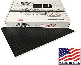 Vibro Black 80 mil Car Sound Deadening Mat -Audio Noise Insulation Car Sound Dampening- Sound Dampener Insulator- Automotive Sound Deadener- Butyl-20 Sheets -Buy Made in America- Not Russia or China
