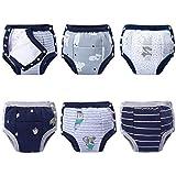 BIG ELEPHANT Unisex Baby Cotton Potty Training Pants Underwear Side Buttons Design 6 Packs Set