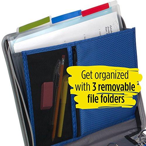 Five Star Zipper Binder, 2 Inch 3 Ring Binder, Removable File Folders, Durable, Blue (73285) Photo #4
