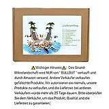 Strand-Mikrolandschaft Miniliegestuhl Strandkorb Sonnenschirm Kleine Palme Deko Accessoires, 16 Stück Miniatur-Ornament-Set für DIY Fee, Garten, Puppenhausdekoration, Einzigartiges Geschenk - 5