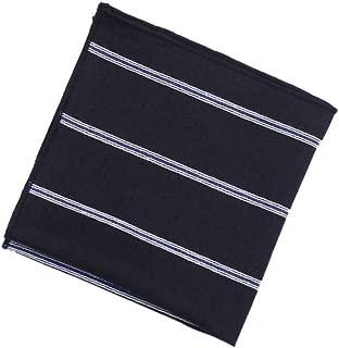 DQT tessuti Single Stripe Nero e Oro Formale Fazzoletto Hanky Fazzoletto da taschino
