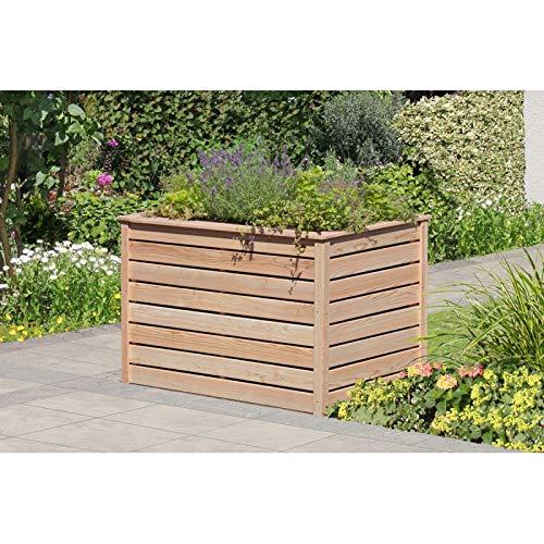 Gartenwelt Riegelsberger Elegantes Hochbeet 125x85xH80 cm Lärche Natur 20x90mm Kräuterbeet Pflanzbeet Gemüsebeet