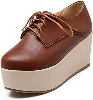 BalaMasa Womens APL12064 Pu Platform Heels