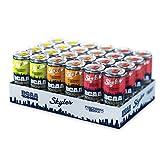 Skyler 4.000 mg BCAA Drink 3er Mix Probierpaket EINWEG, 24 x 330 ml, Hochleistungsgetränk mit 105 mg Koffein, Pre-Workout Booster, Ohne Zucker