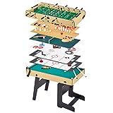 Kangui Table Multi Jeux Pliable 16 en 1 pour ado - Babyfoot, ping Pong, Billard, Bowling, palets.