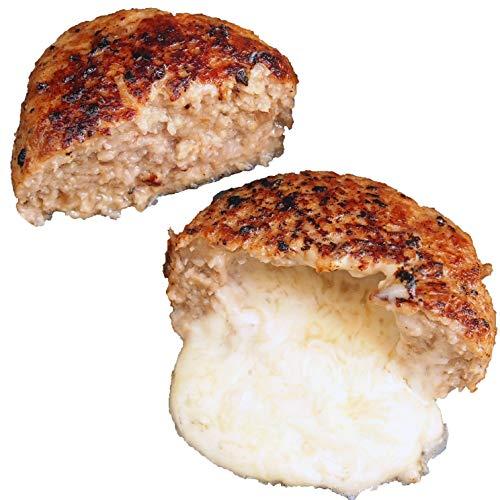 bonbori (ぼんぼり) 究極のひき肉で作る 牛100% ハンバーグステーキ プレーン4個 チーズ入り4個 (200g × 8個入り 付属ソース無し) 無添加 冷凍 レトルト