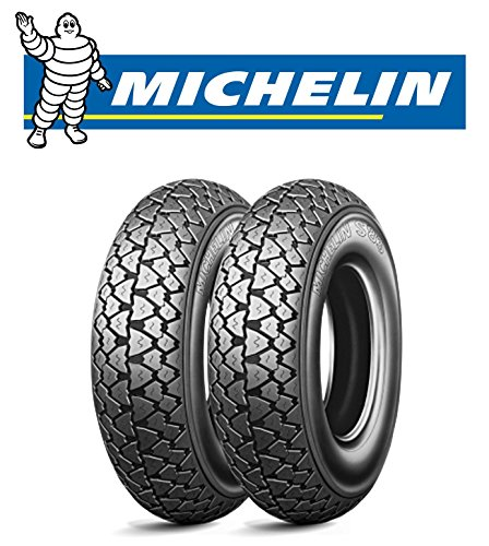 Michelin - Paire de 2 pneus Michelin S83 mesure 3.00 – 10 42J pour vespa 50 special