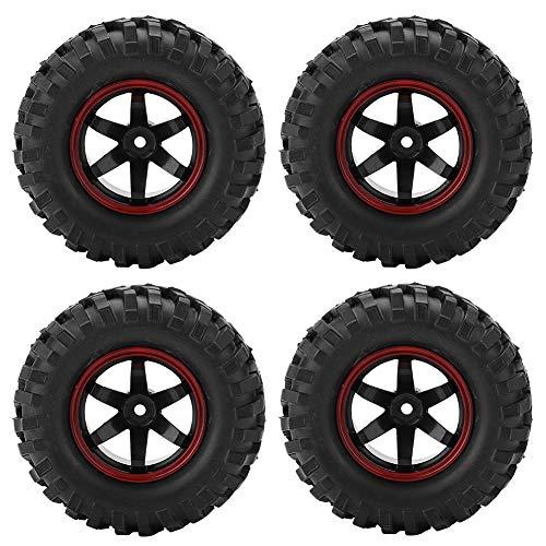Zouminy 4 stuks 6 gaten wiel banden rubberen banden met naven voor 1/10 schaal RC Crawler terreinwagen auto onderdeel