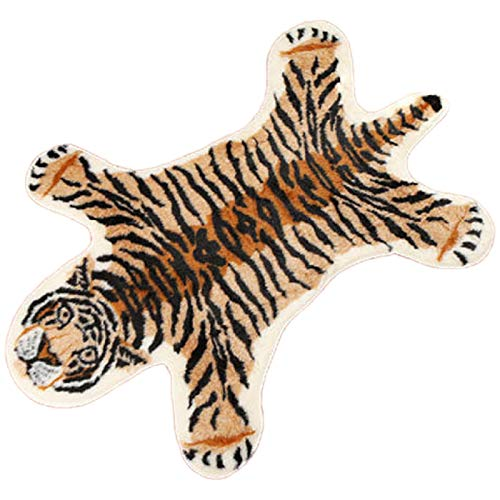 Gesh Rutschfester Teppich mit Tiger-Aufdruck, Tiermuster