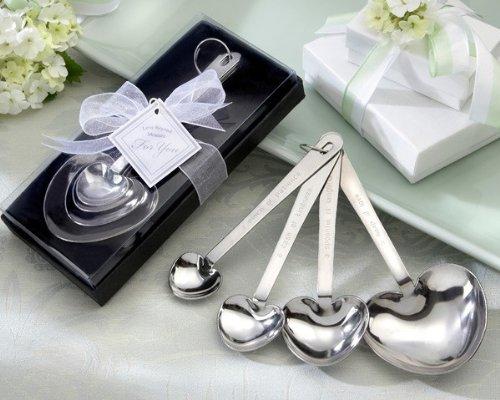 Love Beyond Measure Heart Measuring Spoons in Gift Box set of 24