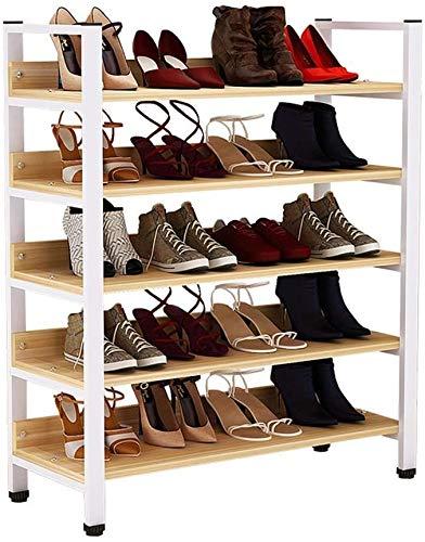 Rack da scarpe da scarpe da scarpe da 5 strati Rack di stoccaggio Staffa per scarpe sportive Scarpe con tacco alto, può ospitare 20 paia dell'organizzatore di conservazione per stoccaggio per ingresso