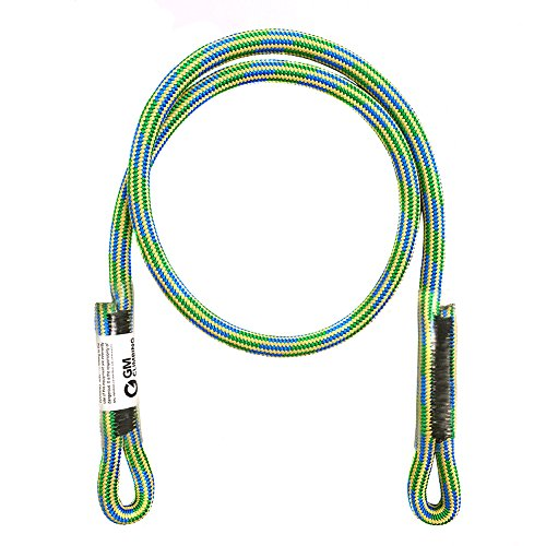 GM CLIMBING 8mm (5/16in) Prusik Swen Eye-to-Eye Pre-Sewn Heat Resistant Friction Hitch Cord Kevlar & Polyester 30inch