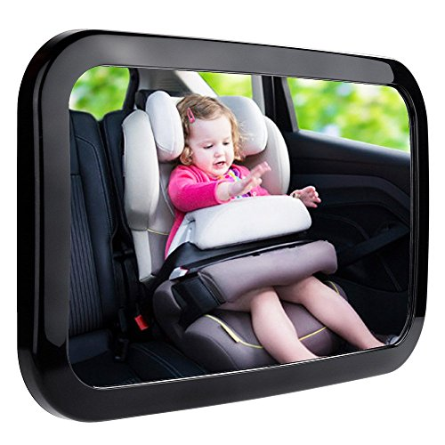 Zacro Baby Car Mirror, Shatter-Proof Acrylic Baby Mirror for Car, Rearview Baby Mirror-Easily to Observe The Baby's Every Move, Safety and 360 Degree Adjustability Alaska