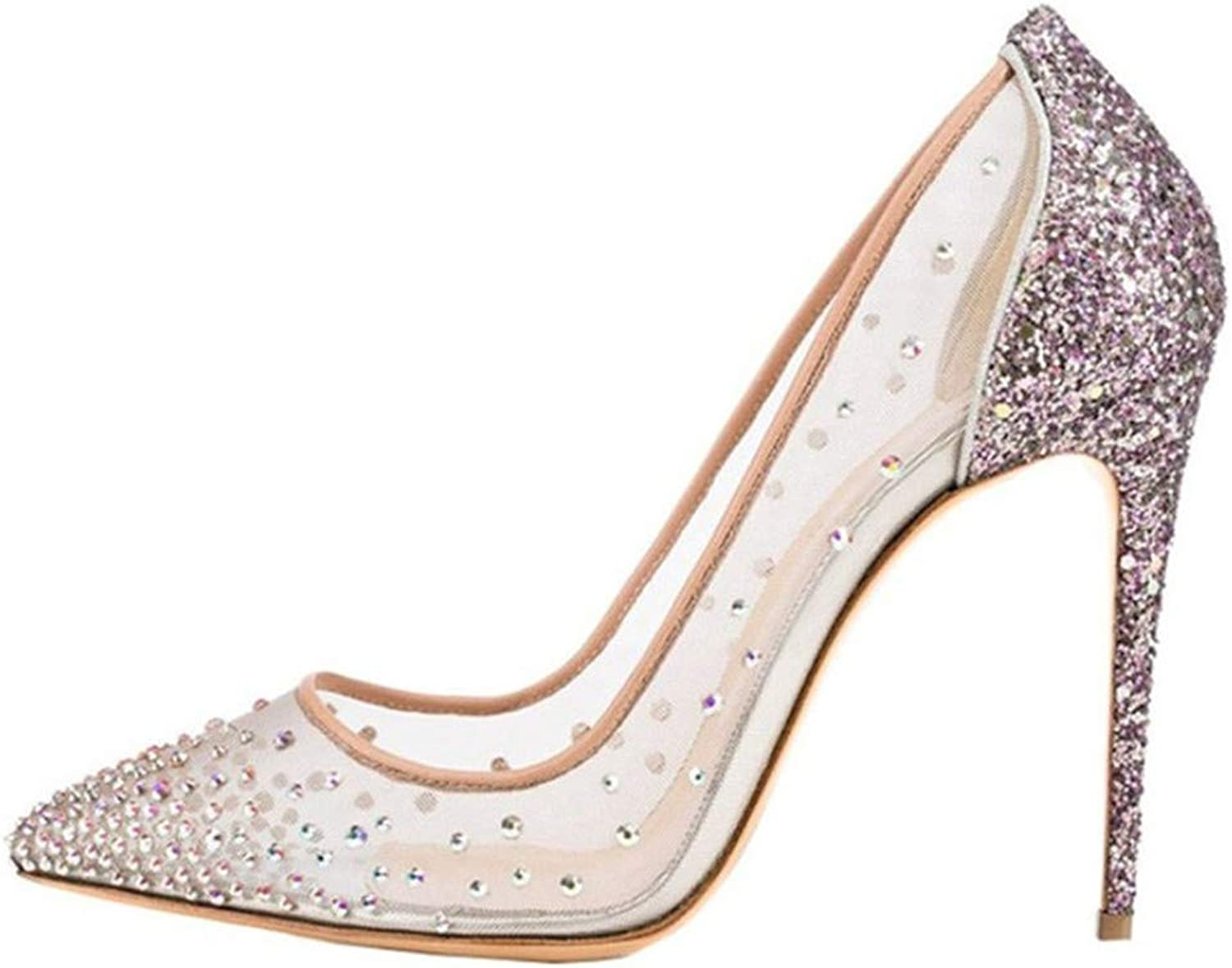 Party shoes for Women Sexy High Heels Rhinestone Summer shoes Woman Pumps Stiletto Wedding shoes