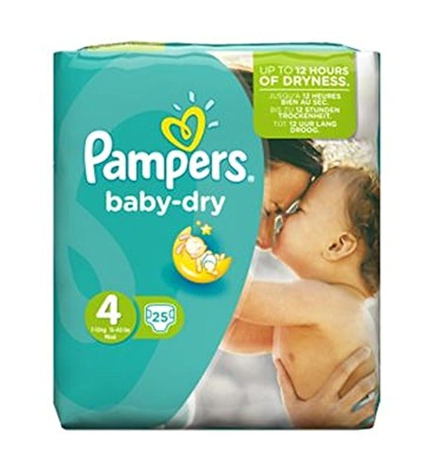 確立怒っている期待するPampers Baby Dry Size 4 (Maxi) Carry Pack 25 Nappies - パンパース赤ちゃんドライサイズ4(マキシ)がパック25おむつを運びます (Pampers) [並行輸入品]