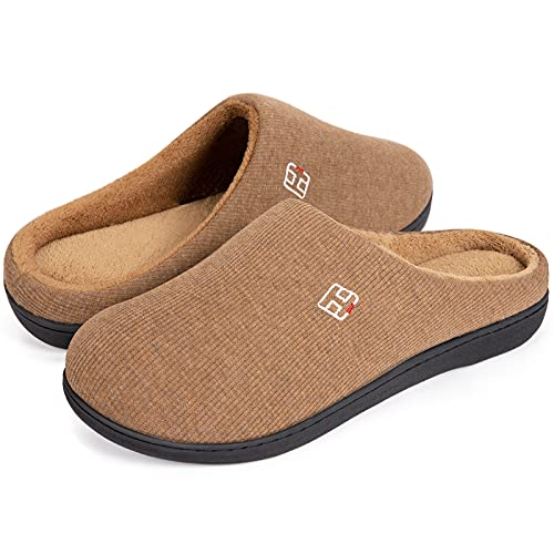 HomeIdeas Men's and Women's Classic House Memory Foam Slippers for $8.49