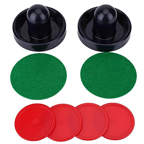 Demeras Air Hockey Paddles Set Plastic Lightweight Goalies Ice Hockey Pushers Pucks Set Replacement for Tables Game
