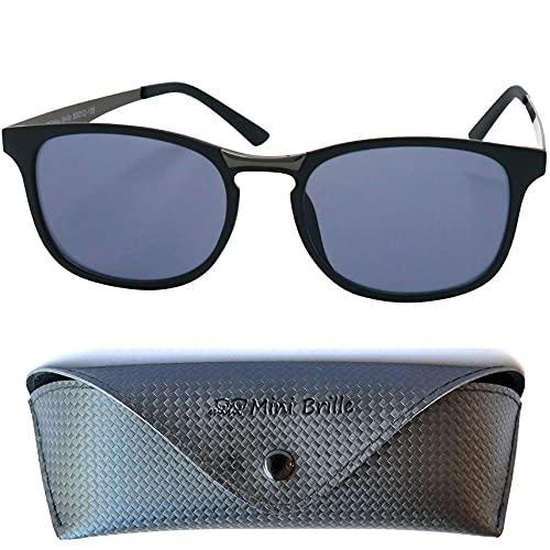 Gafas de Sol sin Graduar de Tendencia Ovalados, Estuche GRATIS, Montura de Plástico (Negra) con Patillas de Acero Inoxidable, Gafas Mujer y Hombree