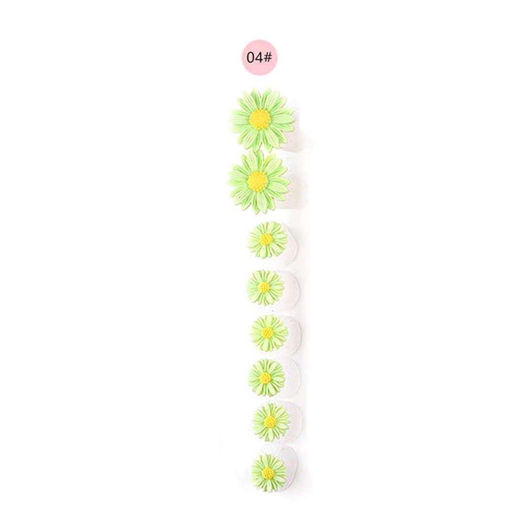 安らぎほのめかす大きなスケールで見ると8ピース/セットシリコンつま先セパレーター足つま先スペーサー花形ペディキュアDIYネイルアートツール-カラフル04#