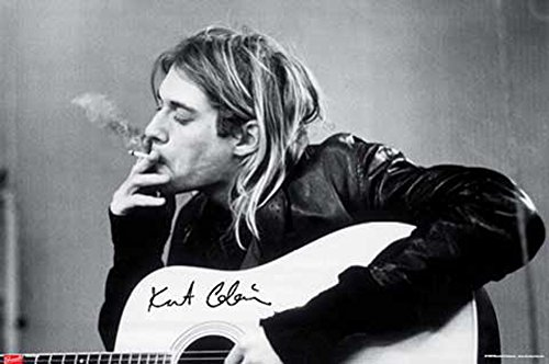 Cobain, Kurt - Smoking - Musikposter Kurt Cobain Alternative - Grösse 91,5x61 cm