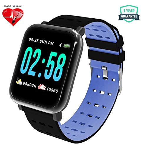 WearFit Versa Health and Fitness Tracker Watch | Activity Tracker | Fitness Band | Rugged Fitness Tracker with Heart Rate, Blood Pressure/Oxygen Monitor & Big Color Display (Blue)