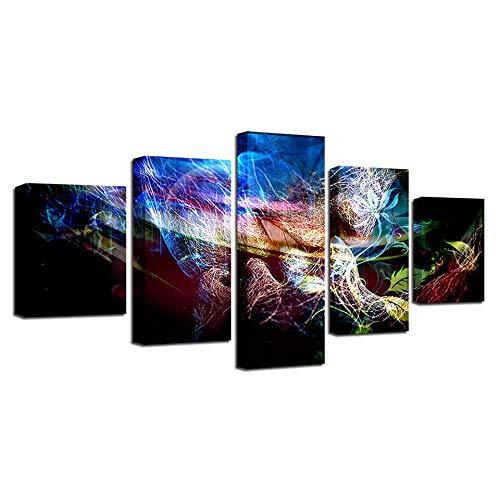 Jinjack 5 stuks canvas schilderij kleur liefde kus abstracte wooncultuur woonkamer muurkunst 30 x 60 30 x 70 30 x 80 cm frame.