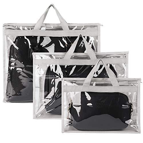 Fanspack Handtaschen-Aufbewahrung, Handtaschen-Organizer, 3 Stück, Staubschutz (grau)