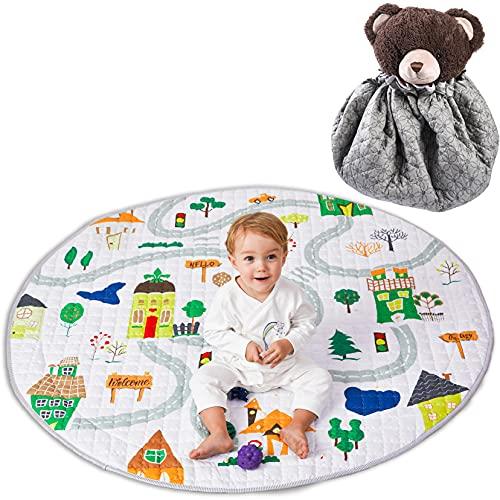 Tappetino da gioco per bambini Winthome, tappetino antiscivolo in cotone per giochi da palestra - Tappetino per gattonare lavabile 59 '' (Upgrade casa, mondo marino)