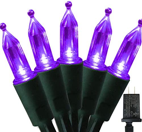 200 LED Purple Christmas String Lights for Tree Commercial Grade Mini String Lights Connectable product image
